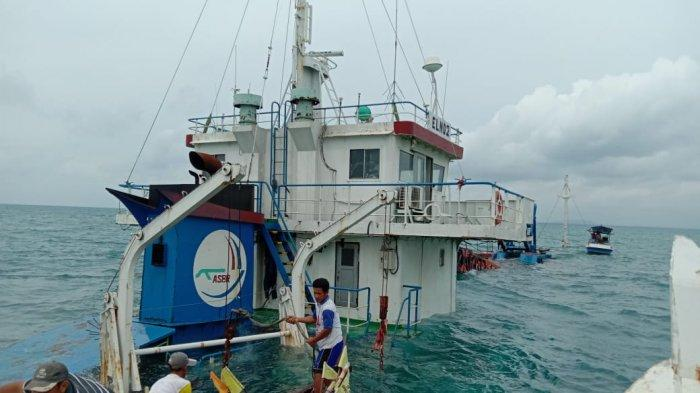 KSOP Tanjungpadan Mulai Ambil Keterangan ABK dan Nahkoda Kapal yang Tenggelam di Perairan Belitung