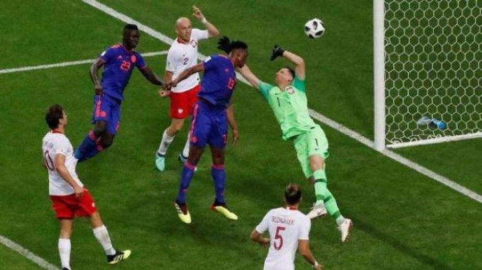 Kolombia Cetak Gol di Babak Pertama, Peluang Polandia Lolos Fase Grup Sempit