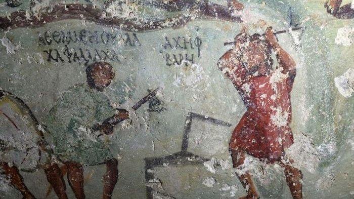 Lukisan Romawi Kuno Mirip dengan Gambar Komik Ditemukan di Yordania