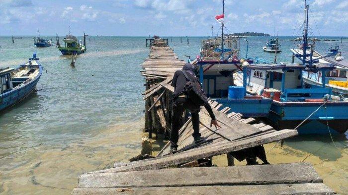 Memprihatinkan, Begini Kondisi Kerusakan Dermaga Nelayan di Tanjungbinga Belitung