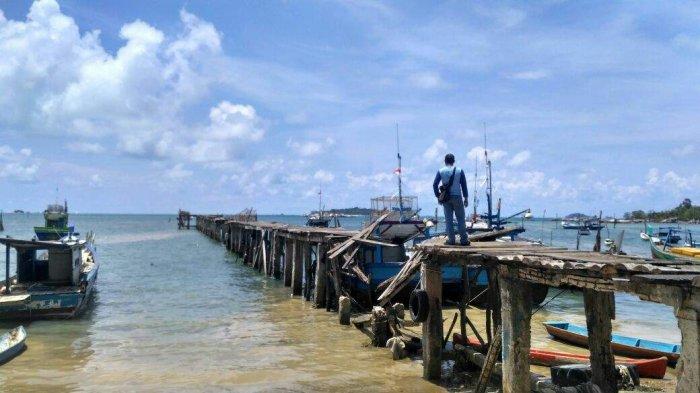 Dermaga Nelayan Tanjungbinga Belitung yang Rusak Disebut Sebagai Aset Pemprov Babel