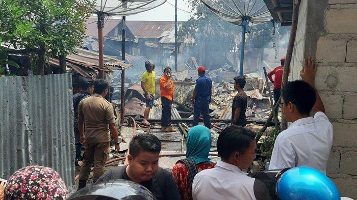 Kerugian Kebakaran Rumah Bedeng Di Pusat Kota Tanjungpandan Ditaksir Sekitar Rp 150 Juta