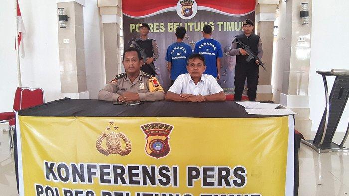 Dua Pemuda Pencuri Mesin Disel Dicokok Polres Beltim