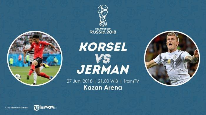 Jadwal Siaran Langsung Piala Dunia 2018 Korsel Vs Jerman Pukul 21.00 WIB! Pembuktian Juara Bertahan