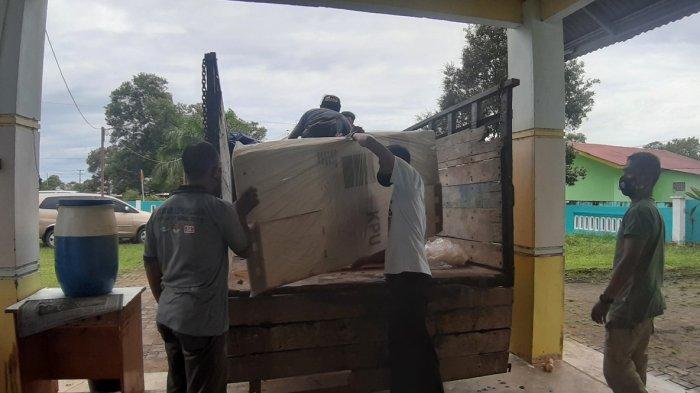 Sebanyak 269 Unit Kotak Suara Pilkada 2020 Tiba di Belitung Timur , Ketua KPY Minta Segera Dirakit