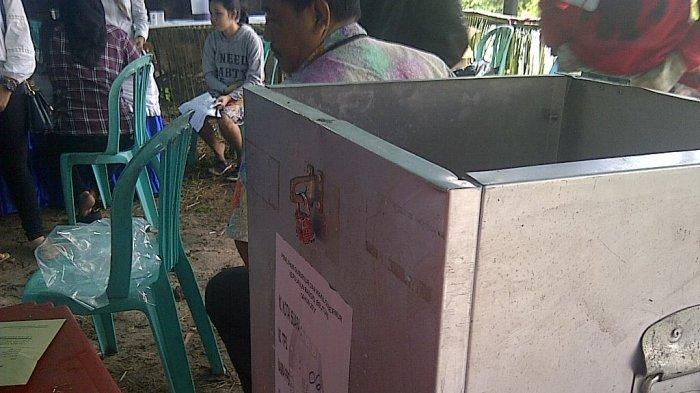 Kotak suara di TPS 6 Kelurahan Lesung Batang. Pos Belitung/Disa Aryandi