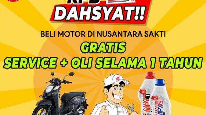 KPB Dahsyat, Beli Motor di NSS Gratis Servis dan Ganti Oli Selama Setahun