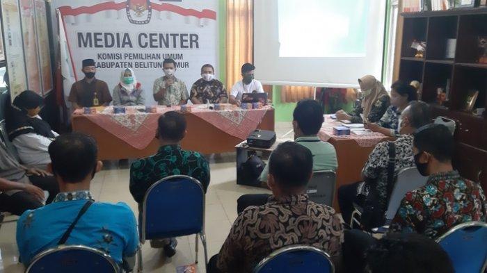 KPU Belitung Timur Gelar Rakor Persiapan Pleno DPT