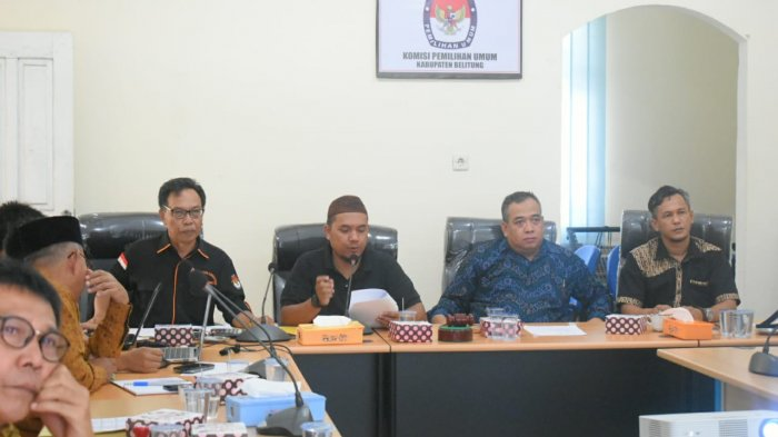 KPU Belitung Sampaikan Rancangan DCS Pileg