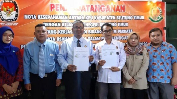 Jelang Pilkada Belitung Timur 2020, KPU dan Kejari Adakan Kerjasama di Bidang Hukum
