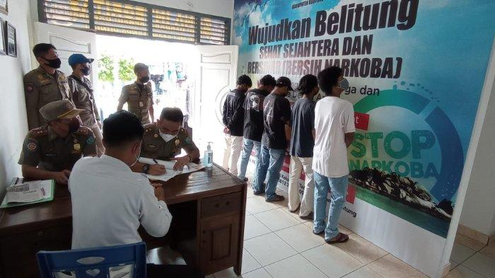 Konsumsi Kratom, Satpol PP Serahkan Lima Remaja kepada BNN Kabupaten Belitung