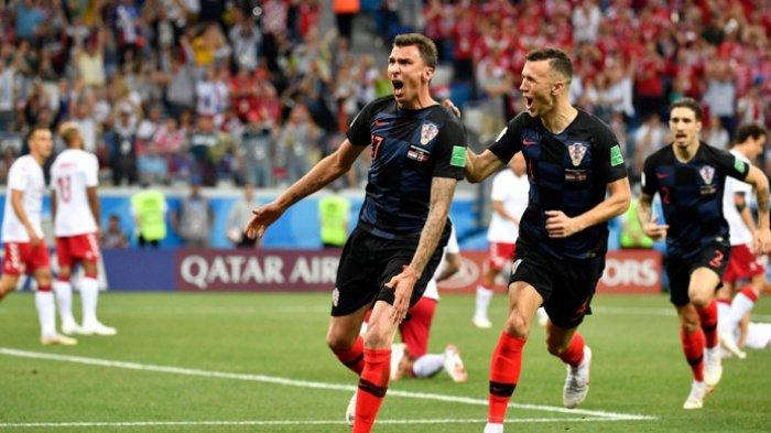 Seru! 2 Gol Tercipta 4 Menit Awal Pertandingan Kroasia Vs Denmark, Kedudukan Babak Pertama Imbang