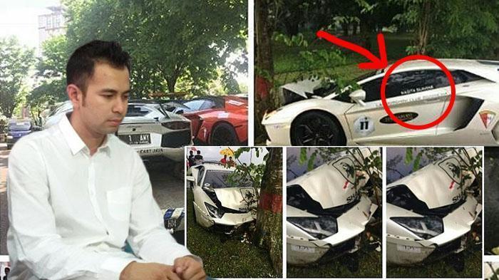 Waduh! Lamborghini Milik Raffi Ahmad Seharga Belasan Miliar Ringsek Tabrak Pohon