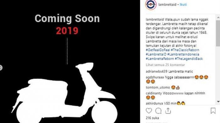 Siap-siap, Skutik Legendaris Lambretta Siap Meluncur Bulan Depan?