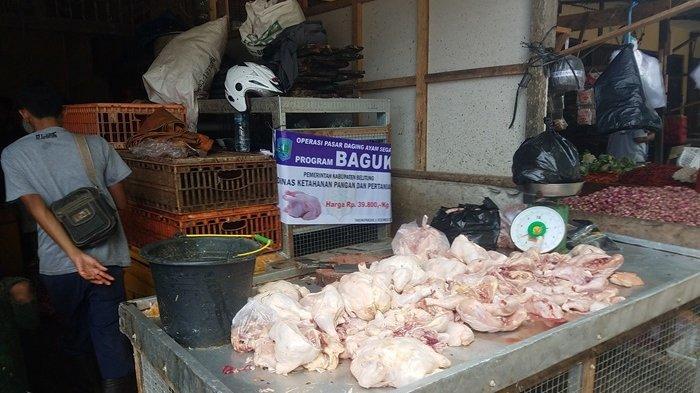 Dinas Ketahanan Pangan dan Pertanian Belitung Operasi Pasar Daging Ayam Segar