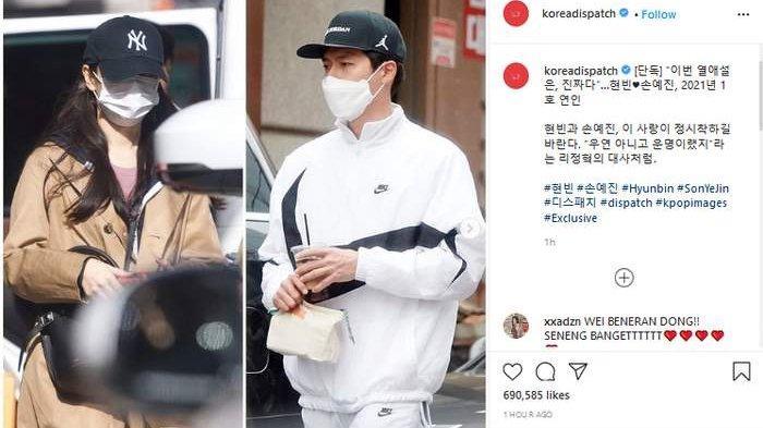 Agensi Benarkan Kabar Hyun Bin dan Son Ye Jin Pacaran!