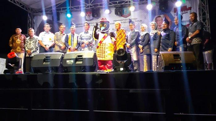 KPU Belitung Timur Launching Maskot dan Jingle Pilkada