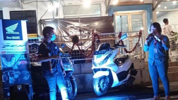 Dealer honda Asia Surya Perkasa belitung mengadakan Launching New Honda PCX 160, di Saturuangkopi yang terletak di pusat kota Tanjung pandan.