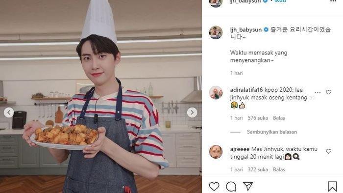 Aksi Kocak Lee Jin Hyuk Memasak Hidangan asal Indonesia Sambal Goreng Kentang Ati