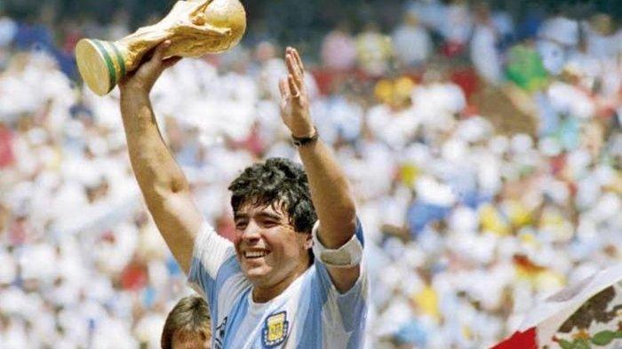 Legenda timnas Argentina, Diego Maradona.