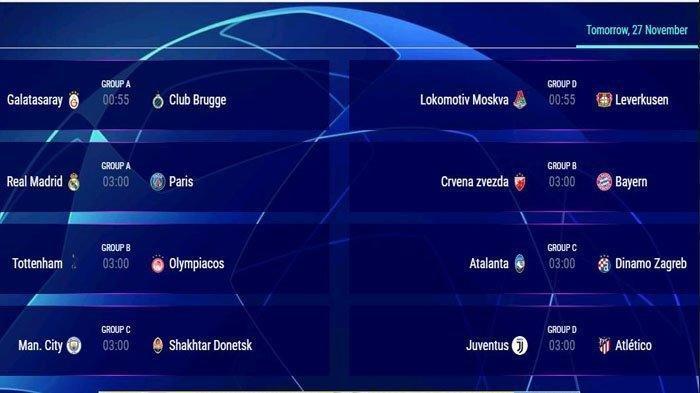 Liga Champions Malam Ini, Lima Klub Berpeluang Lolos ke 16 Besar