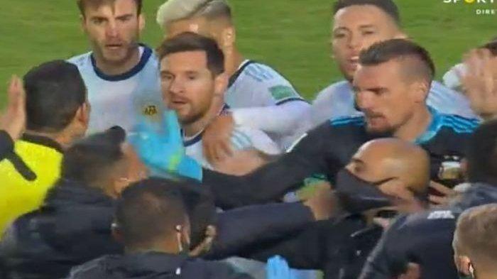 VIDEO Bolivia vs Argentina Sempat Rusuh, Lionel Messi Cekcok dengan Marcelo Moreno Martins