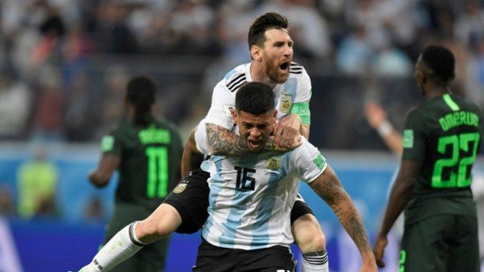 Argentina Baru Tentukan Lolos Grup Menit 87, Dua Gol dari Messi dan Marcos Rojo Kalahkan Nigeria