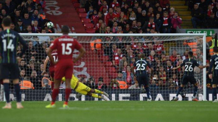 Liverpool Vs Manchester City Berbagi Poin, Riyad Mahrez Gagal Penalti
