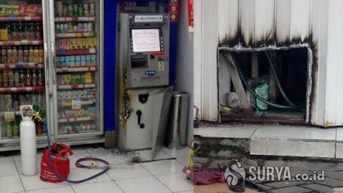 Komplotan Pembobol Mesin ATM Gunakan Las Terungkap Dari Pintu Minimarket Dibolong Berbentuk Kotak
