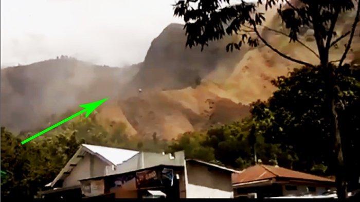 Lihat Video Detik-detik Longsor di Kaki Gunung Rinjani Akibat Gempa Lombok 6,5 SR