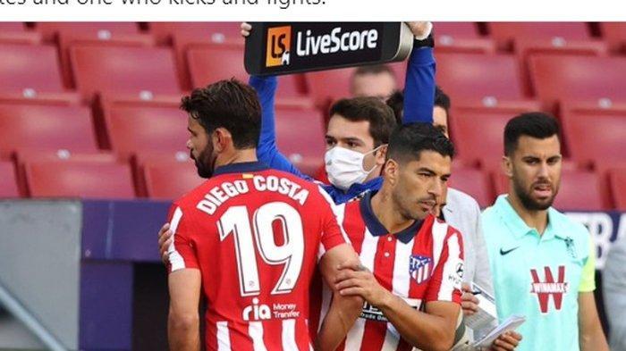 Hasil Liga Spanyol Atletico Madrid Vs Villarreal, Luis Suarez Ngawur, Laga Berakhir Skor Kacamata