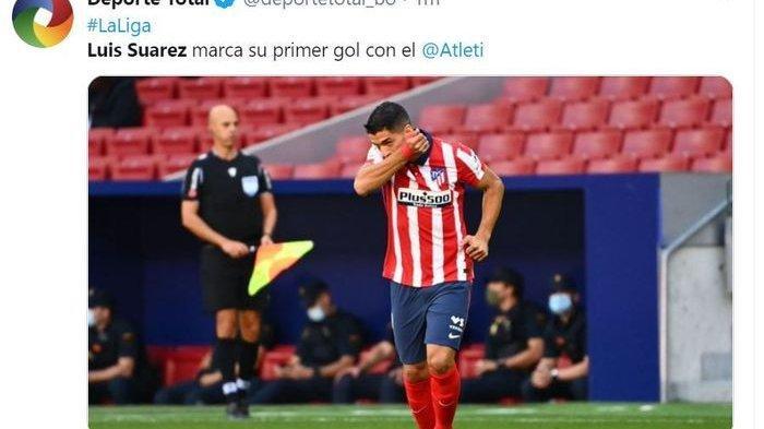 Luis Suarez mencetak gol debut saat Atletico Madrid hancurkan Granada 6-1 di Wanda Metropolitano, Minggu (27/9/2020).