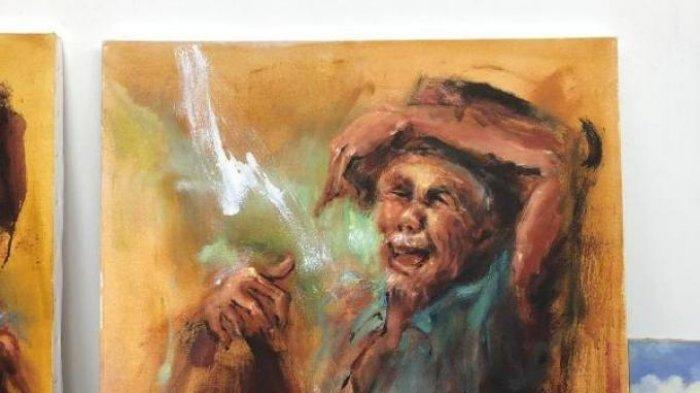 Jokowi Keluar Duit Rp 10 Juta Tanpa Menawar, Arti Lukisan 'Kakek Tertawa' Diungkap Sang Pelukis