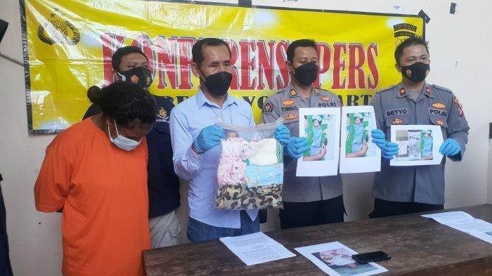 CM tertunduk lesu saat hadiri jumpa pers di Polsek Umbulharjo, Kamis (6/5/2021)