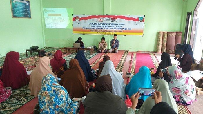 KPU Belitung Timur Ingatkan Ibu-Ibu Jangan Tergiur Iming-Iming Barang Atau Uang Saat Pilkada