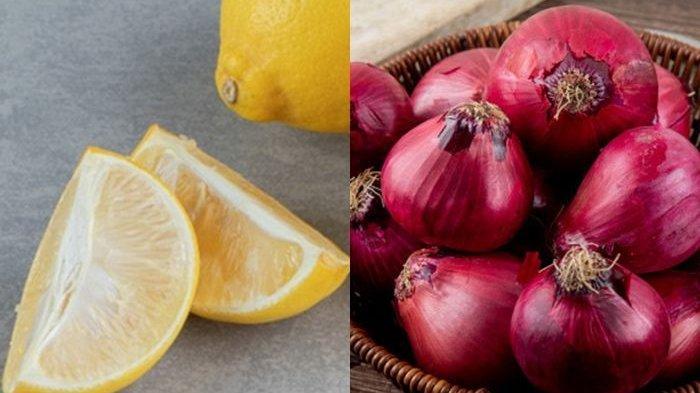 Rutin Minum Campuran Lemon dan Bawang Merah Efeknya Terhindar dari Paparan Kanker!