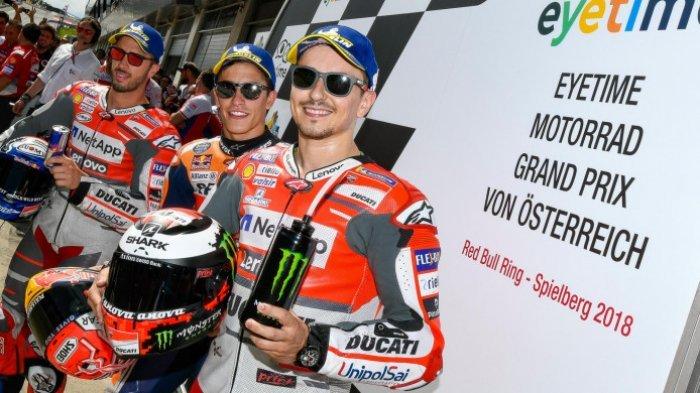 Lorenzo Juara GP Austria, Berikut Posisi Klasemen Sementara MotoGP 2018