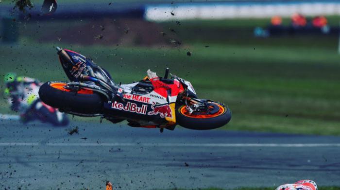 Setiap Kecelakaan di MotoGP, Segini Biaya Yang Dikeluarkan Untuk Perbaikan Motor