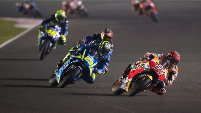 Valentino Rossi 'Melambat' dan Marc Marquez Terjungkal Saat Latihan, LIVE MotoGP Qatar Malam Ini