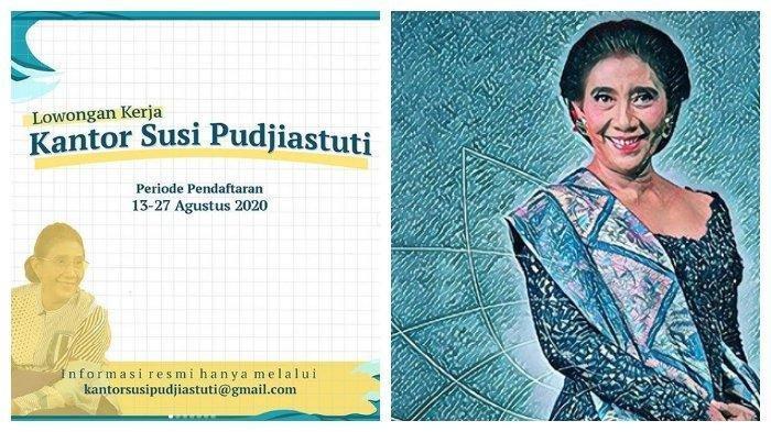 Buruan, Kantor Susi Pudjiastuti Buka Lowongan Kerja untuk Lulusan D3 dan S1, sampai 27 Agustus 2020