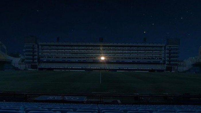 Diego Maradona Meninggal, Hanya Satu Lampu Menyala di Markas Boca Juniors, Pelepasan Sang Legenda