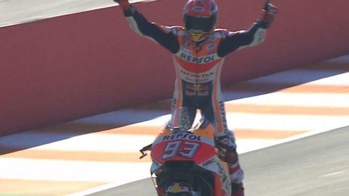 Ini Lima Fakta Menarik MotoGP Valencia, Marquez Lolos Saat Jatuh Hingga Lorenzo Tak Beri Jalan Dovi