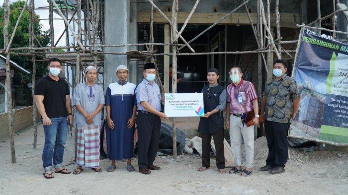 PLN Salurkan Bantuan Senilai Rp 30 Juta untuk Pembangunan Perluasan Masjid Baitul Hikmah