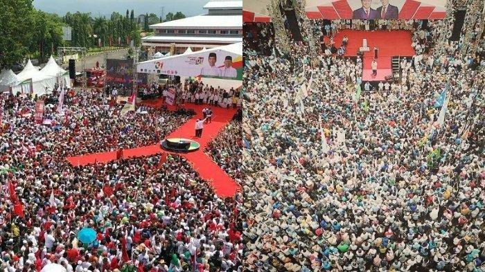 Ketika Jokowi & Prabowo Kampanye di Tempat yang Sama, Lihat Perbedaan Panggung dan Massa Pendukung