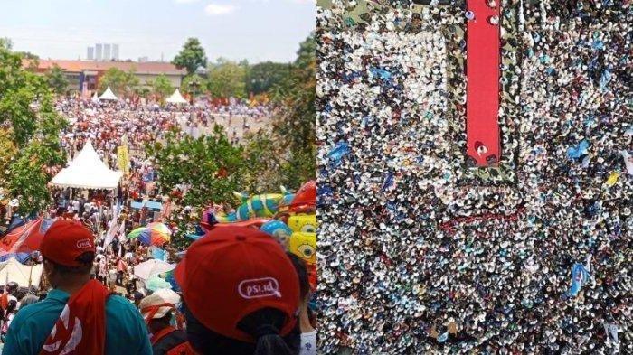 Lihat Potret Perbedaan Massa Pendukung Kampanye Jokowi di Batam Vs Prabowo di Ciamis