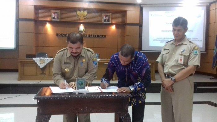 Perangkat Desa dan BPD Kabupaten Belitung Dilindungi BPJS Ketenagakerjaan, Sahirman: Mereka Terjamin