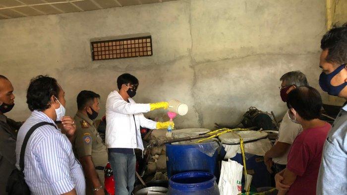 Satnarkoba Kirim Sampel Arak ke Lab BPOM Provinsi Babel