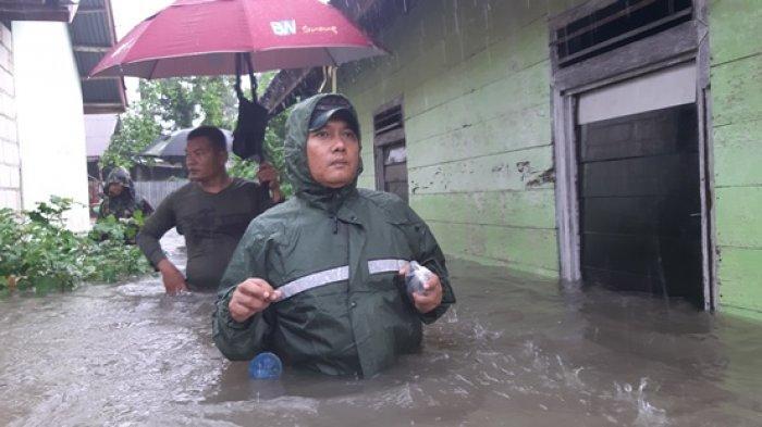 Dandim 0414 Belitung Ikut Bantu Evakuasi Warga Kampung Amau