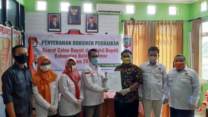 KPU Beltim Terima Dokumen Perbaikan Syarat Calon Burhanudin-Khairil Anwar, Ijazah Sudah Dilegalisir