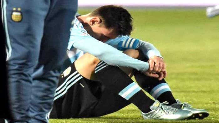 Jadi Biang Kekalahan Argentina, Messi Tertunduk Lesu